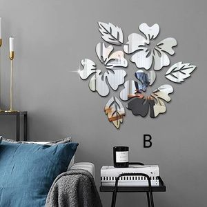3pc DIY flower wall mirror set
